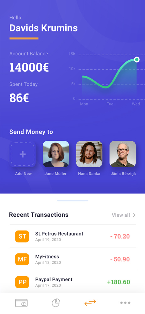 Mobile Finance App UI Design